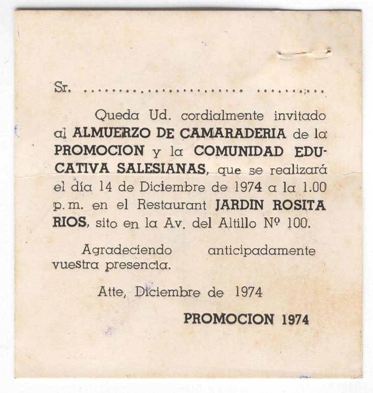 Salesianos 1974 Rincón De Los Recuerdos